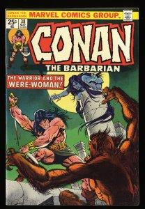 Conan The Barbarian #38 VF- 7.5 Marvel Comics