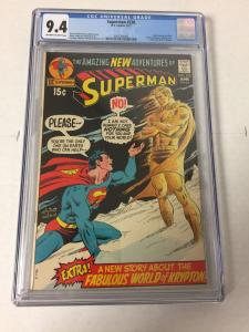 Superman 238 Cgc 9.4 Ow/w Pages