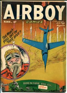 AIRBOY COMICS V.8 #2-GREAT COVER-golden age FR