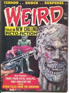 Weird Vol. 2 #1 1966-Eerie-robot cover-Carl Burgos art-Nazi torture-FN