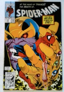 Spider-Man #17 Marvel 1991 VF+ Copper Age Infinity Gauntlet 1st Print Comic Book