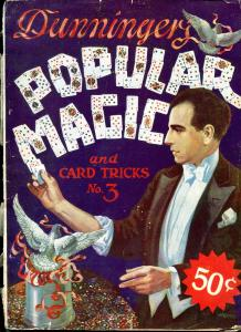 Dunninger's Popular Magic and Card Tricks pulp magazine #3 1929