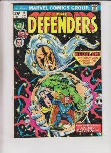 Defenders [1974 Marvel] #14 VF squadron sinister - nebulon - len wein - buscema