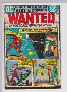 Wanted the World's Most Dangerous Villians #1 (Aug 1972) GD+ DC