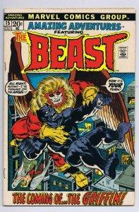 Amazing Adventures #15 ORIGINAL Vintage 1972 Marvel Comics Beast Griffin