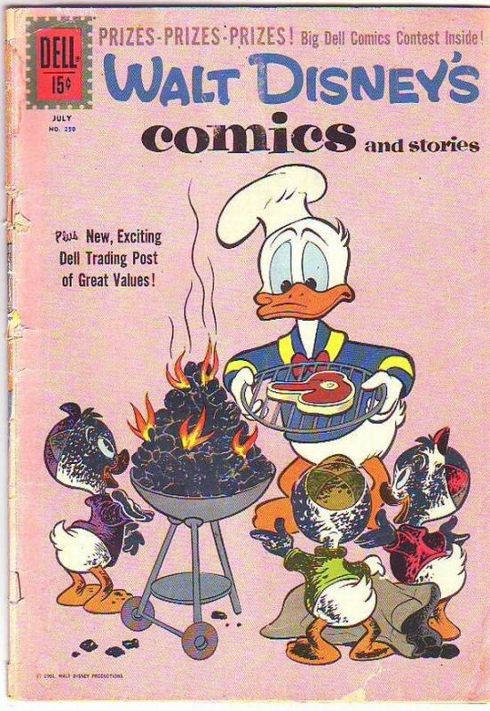 Comics and Stories, Walt Disney's #250 (Jul-61) VG Affordable-Grade Donald Du...