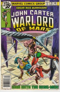 John Carter Warlord of Mars(Marvel) # 19 The Warlord targeted by Assassins !