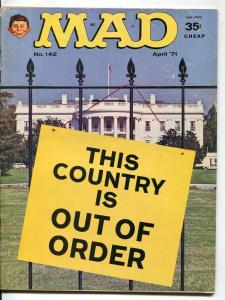 Mad-Magazine-#142-1971-Mort Drucker-Don Martin-David Berg-Jack Rickard
