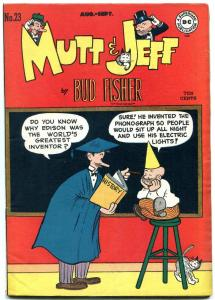 Mutt and Jeff #23 1946- Dunce Cap cover- DC Golden Age- Bud Fisher F/VF