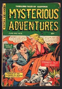 MYSTERIOUS ADVENTURES #8-strange eyeball story!-1952-PCH-HORROR