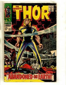 Thor # 145 VG Marvel Comic Book Loki Odin Sif Avengers Hulk Iron Man GK4