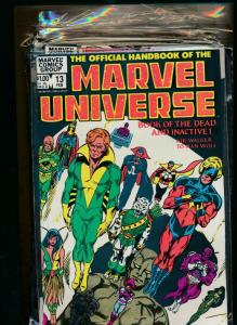 Lot of 8-MARVEL UNIVERSE BOOK OF DEAD I&II, Weapons, & MORE!! #13-20 VF(PF748)