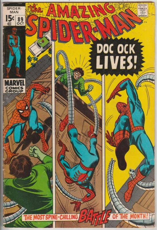 Amazing Spider-Man #89 (Oct-70) VF High-Grade Spider-Man