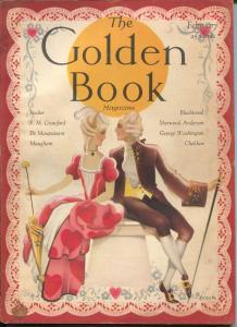 Golden Book 2/1931-pulp fiction-art deco cover-Leech-Maugham-Orban-VG