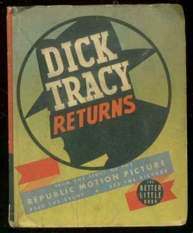 DICK TRACY #1495-BIG LITTLE BOOK-DICK TRACY RETURNS '39 VG/FN