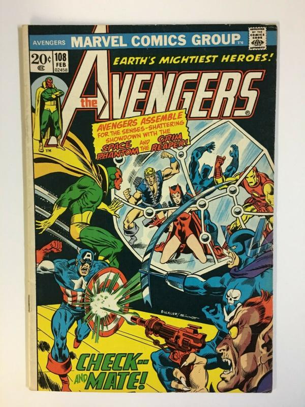 AVENGERS 108 Heck, Cockrum, Sinnott VG February 1973