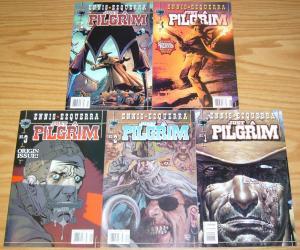 Just A Pilgrim #1-5 VF/NM complete series GARTH ENNIS black bull comics set lot