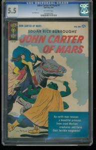 JOHN CARTER OF MARS-EDGAR RICE BURROUGHS-CGC GRADED 5.5 0945683003