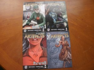 4 Mint Top Cow ARTIFACTS Comic #13 17 19 21 (Wrap-Around New Creation Rebirth)