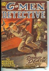 G-Men Detective Summer 1946-hero Pulp-Dan Fowler-F.B.I.-pulp crime & mystery-VG-