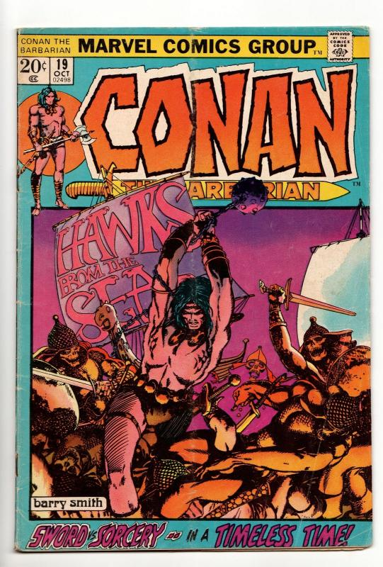 Conan the Barbarian #19 (Marvel, 1972) VG