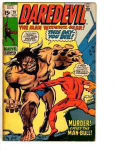 Lot Of 4 Daredevil Marvel Comic Books # 79 80 81 85 VG Range Foggy Karen RH2
