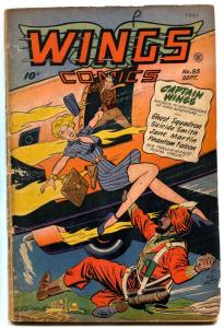Wings Comics #85 1947- Ghost Squadron- Hitler appears restored G/VG