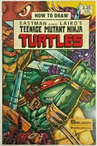 HOW TO DRAW TEENAGE MUTANT NINJA TURTLES#1 VF/NM 1986 SOLSON PUBLICATIONS