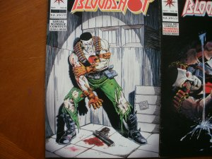 3 Near-Mint Valiant BLOODSHOT #8 Bad Blood + #10 The Rat (1993) + #33 (1995)