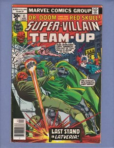 Super-Villain Team-Up #11 VF Dr Doom Red Skull Captain America Marvel 1977