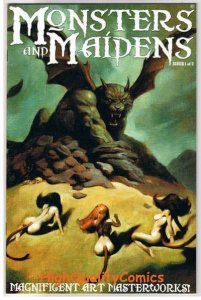 MONSTERS & MAIDENS #1, Limited, VF+.Mike Hoffman, 2003, more indies in store
