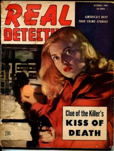 Real Detective 10/1946-Hillman-gun moll-pulp crime-G