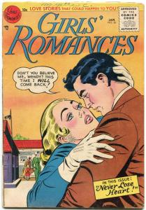 Girls' Romances #36 1956- DC Silver Age- Great issue VG
