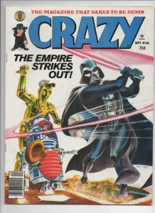 CRAZY #66 Magazine, FN, Star Wars Empire Strikes Back, 1973 1980, Baseball