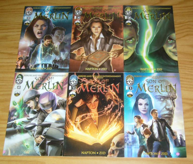 Son of Merlin #1-5 VF/NM complete series + variant - image comics - top cow HVE