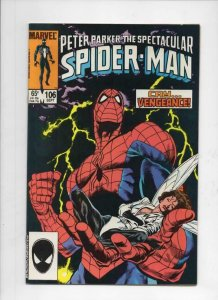 Peter Parker SPECTACULAR SPIDER-MAN #106 VF/NM, No Fury 1976 1985 more in store
