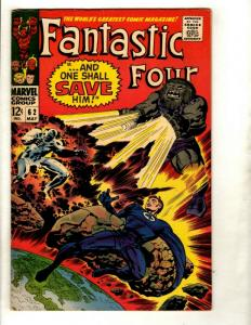 Fantastic Four # 62 VF- Marvel Comic Book Silver Age Thing Human Torch Doom GK1