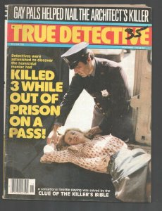 True Detective 11/1980-crime storiesCrime-mystery-terror-posed photos-VG