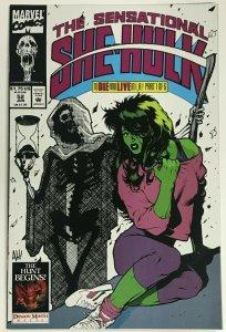 SENSATIONAL SHE-HULK#52 VF/NM 1993 ADAMS HUGHES MARVEL COMICS