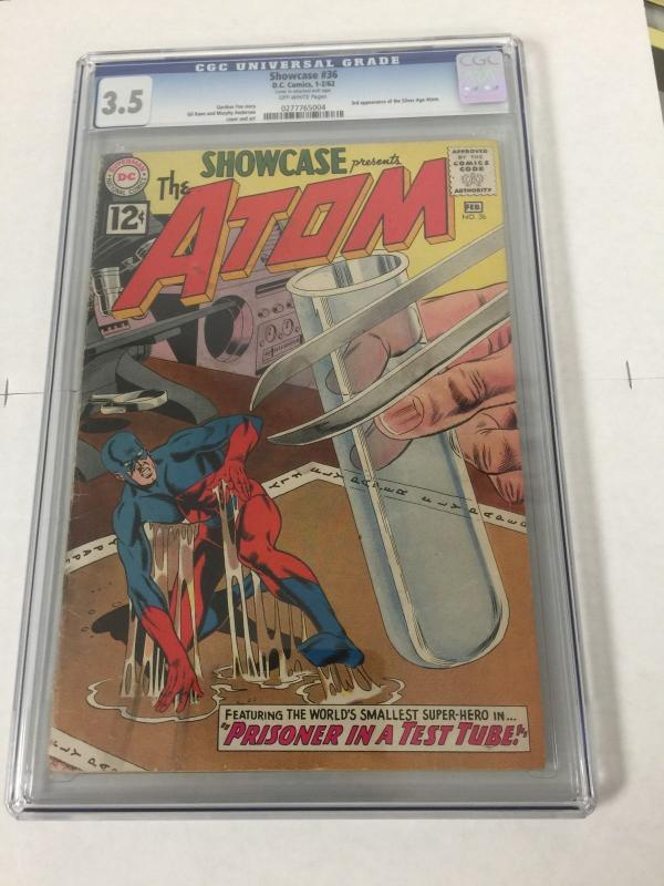 Showcase 36 Cgc 3.5 3rd Appearance Of The Atom