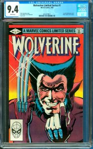 Wolverine Limited Series #1 CGC Graded 9.4 1st Solo Wolverine Comic
