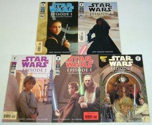 Star Wars: Episode I - Phantom Menace #½ & 1-4 VF/NM complete series + half  2 3