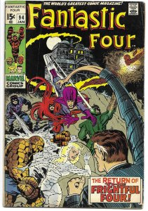 Fantastic Four 94 Marvel 1970 1st appearance Agatha Harkness Stan Lee Jack Kirby