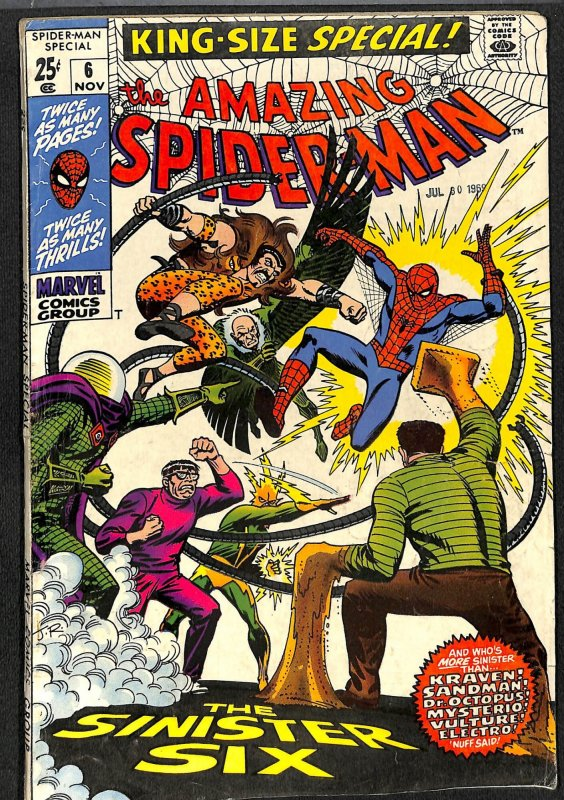 Amazing Spider-Man Annual #6 VG+ 4.5 Sinister Six!