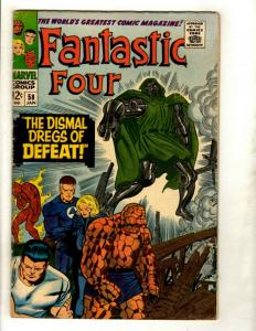 Fantastic Four # 58 FN Marvel Comic Book Silver Age Thing Human Torch Doom GK1