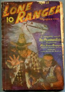 LONE RANGER PULP #1-APRIL 1937-PHANTOM RIDER-TONTO-RARE FR/G