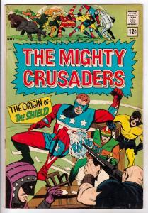 Mighty Crusaders, The #1 (Nov-65) VG/FN+ Mid-Grade The Shield, Fly-Man, Fly-G...