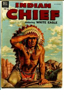 Indian Chief  #15 1954-Dell-Indian stories-White Eagle-VG