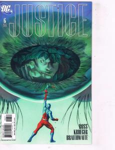Justice #6 NM 1st Print DC Comic Book Alex Ross Superman Batman Shazam Flash J97