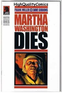 MARTHA WASHINGTON DIES, NM, Frank Miller, Gibbons, 2007, more FM in store